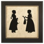 Children with Toys Silhouette