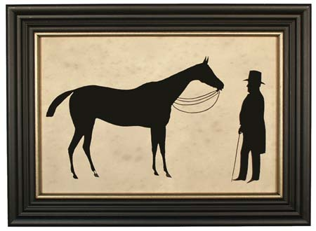 Owner With Horse Silhouette