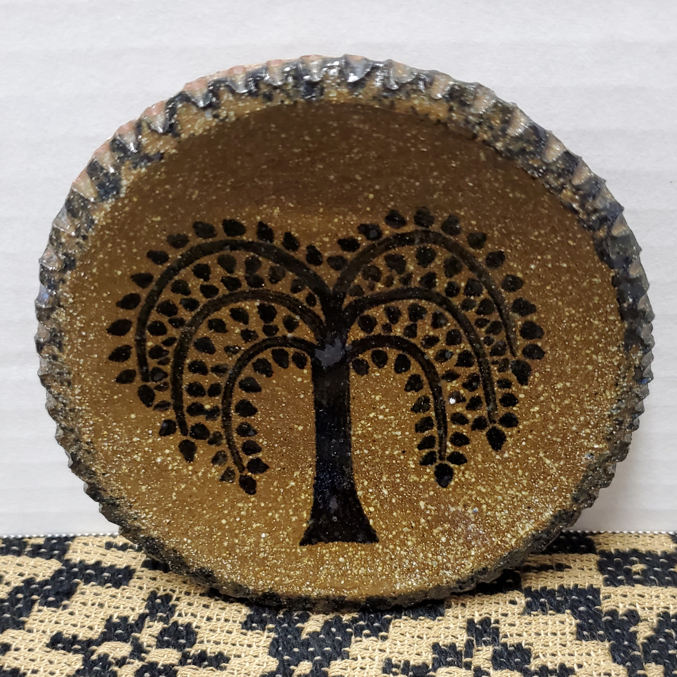 Extra Small Plate with Willow Tree
