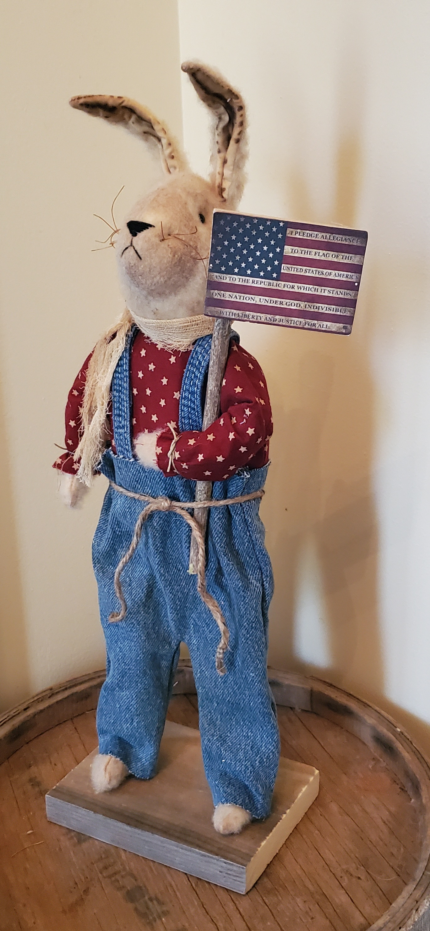 Americana Bunny with Flag