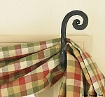 Wrought Iron Curtain Hooks Scroll