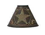 Star Tin Lampshade - Rustic Brown