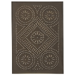 Diamond Design Cabinet Panel Blackened Tin