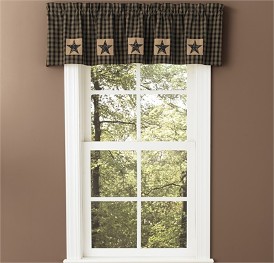 Sturbridge Patch Lined Valance - Black