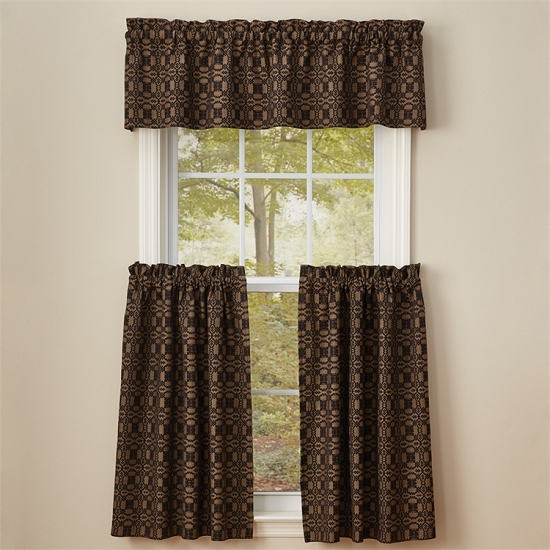 Campbell Lined Valance - Black