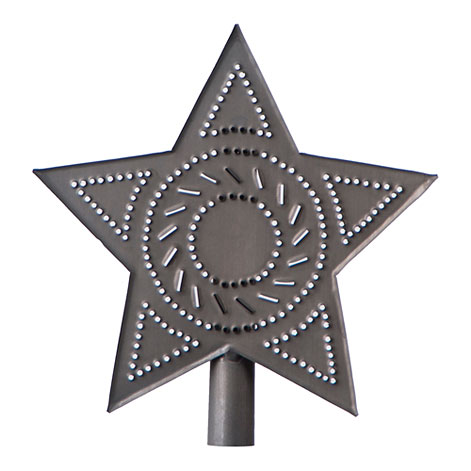 Star Tree Topper in Blackened Tin