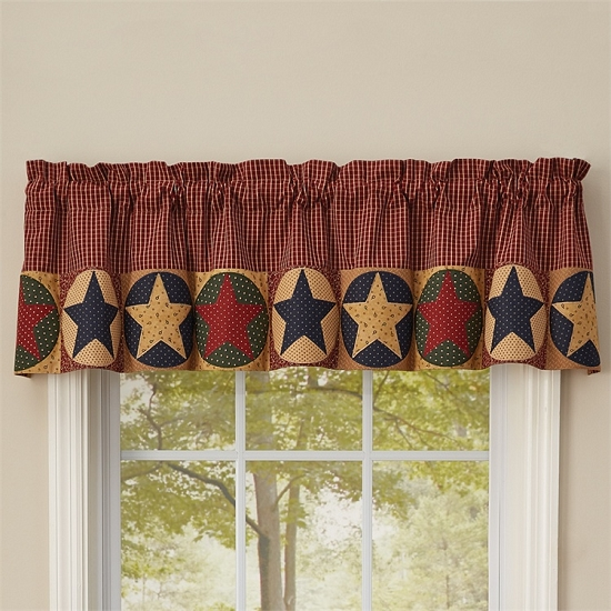 Montclair Lined Star Border Valance - 14