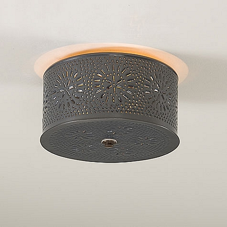 Round Ceiling Light with Chisel