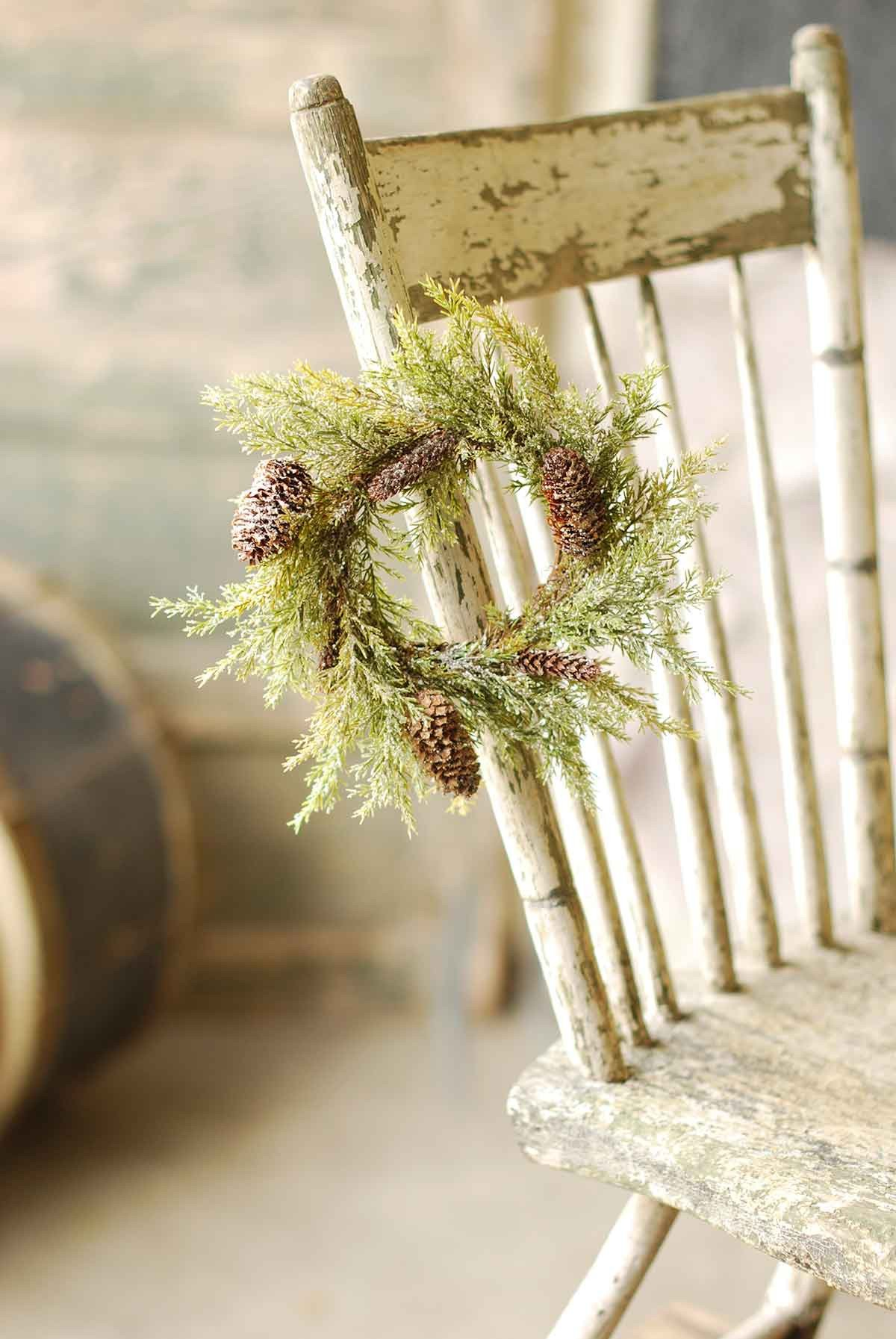Prickly Pine Candle Ring | Snow | 9
