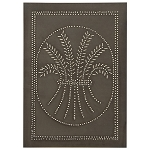 Wheat Design Cabinet Panel Blackened Tin
