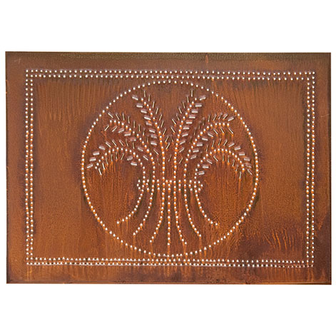 Horizontal Wheat Design Cabinet Panel Rustic Tin