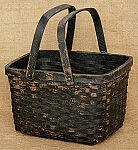 Market Basket - 2 Handled, Black