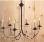 Pepperell Wrought Iron Chandelier