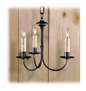 Timber Ridge Wrought Iron Chandelier