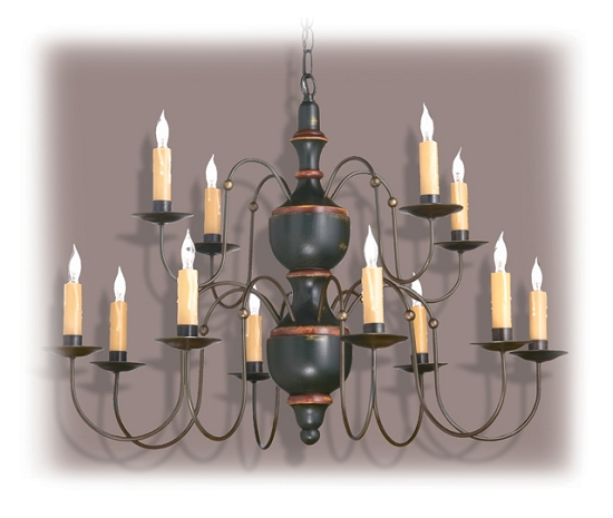 Colonial Heights Wooden Chandelier