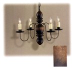 Quaker Hill Wooden Chandelier