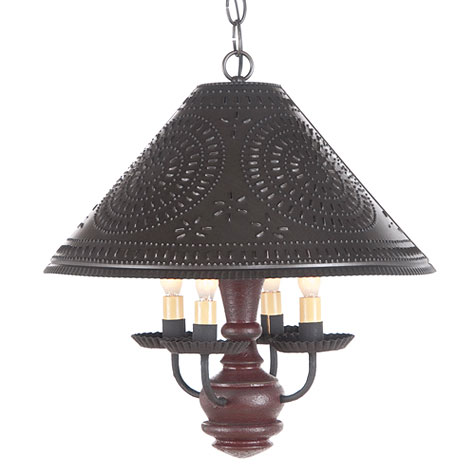Homespun Shade Light in Plantation Red