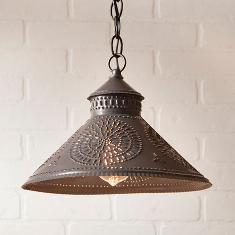 Stockbridge Shade Pendant Light in Kettle Black