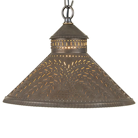 Stockbridge Shade Pendant Light Willow in Kettle Black