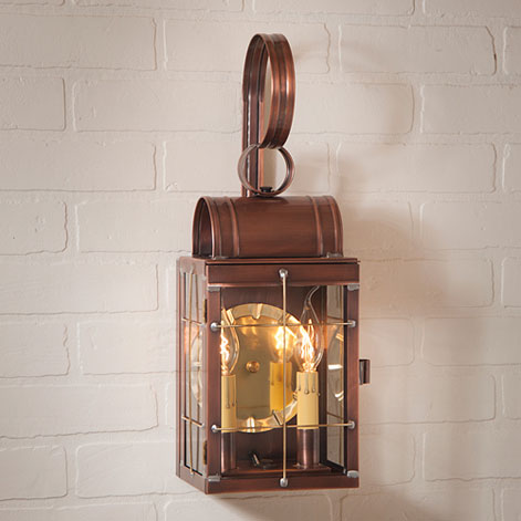 Double Wall Lantern Antique Copper