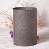 Diamond Punched Tin Waste Basket