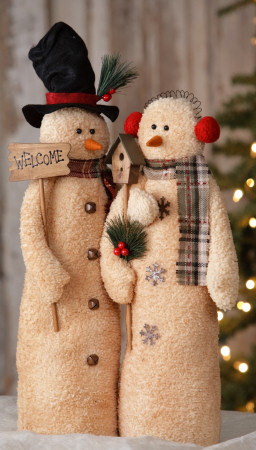 Snowman - Couple Welcome W/Birdhouse