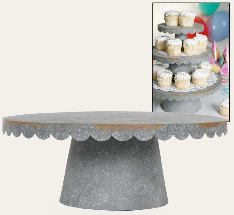 Large Scalloped Cupcake Stand - Barn Roof