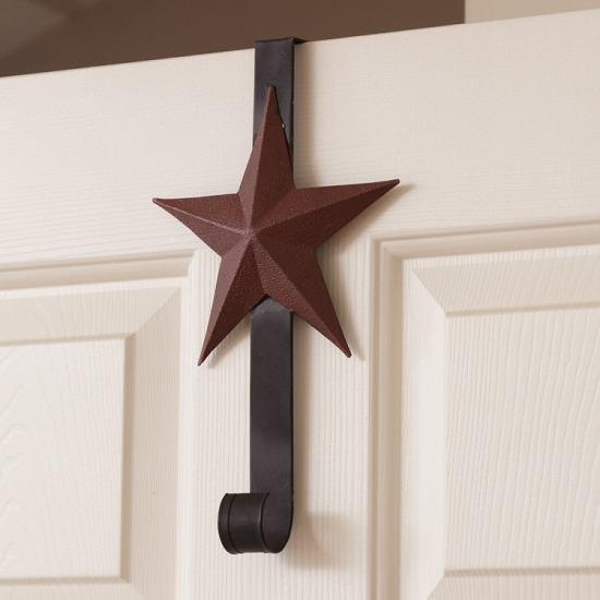 Wreath Holder - Burgundy Star