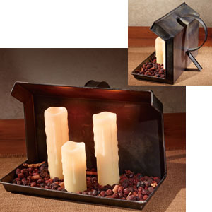 Fireside Candle Holder