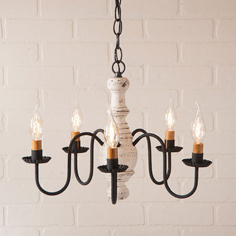 Lancaster Chandelier in Americana White