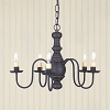 Lancaster Wooden Chandelier in Americana Black