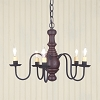 Lancaster Wooden Chandelier in Americana Red