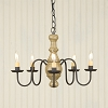 Lancaster Wooden Chandelier in Americana Pearwood
