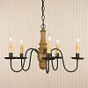 Lynchburg Chandelier in Sturbridge Mustard