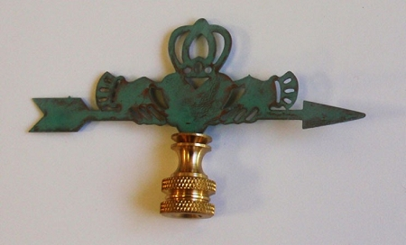 Claddagh Lamp Finial