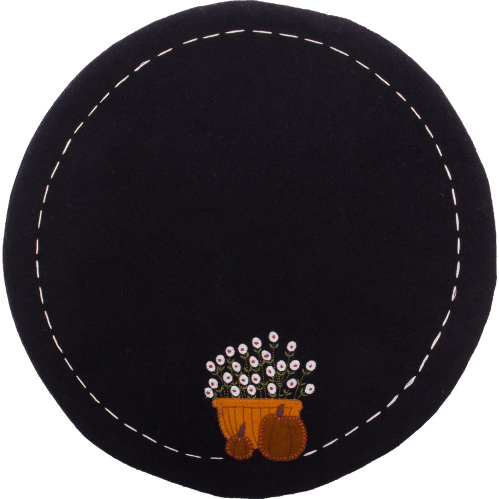 Bittersweet Basket Candle Mat Black