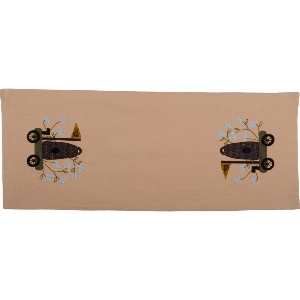 Honey Bee Table Runner Nutmeg