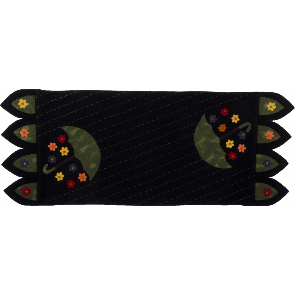 April Showers Table Runner Black