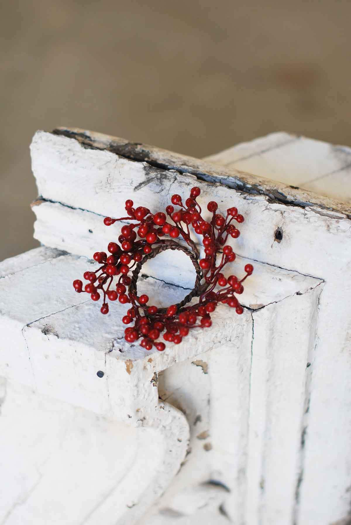 Red Berry Candle Ring | 4