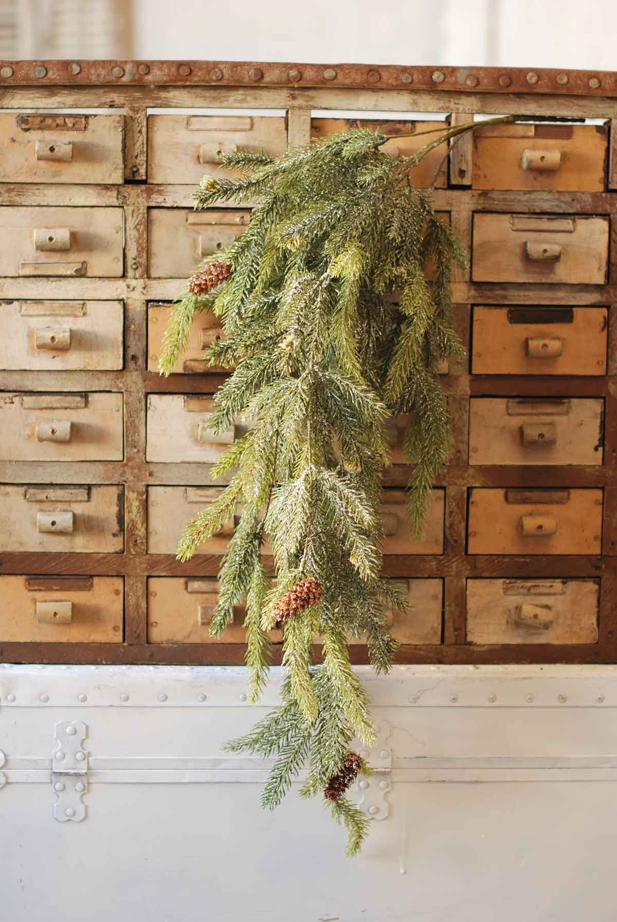 Frosted White Spruce Hanging | 34