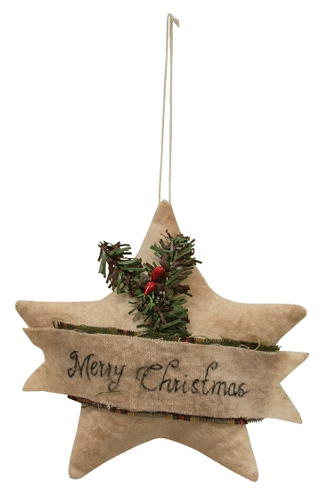 Merry Christmas Star Ornament