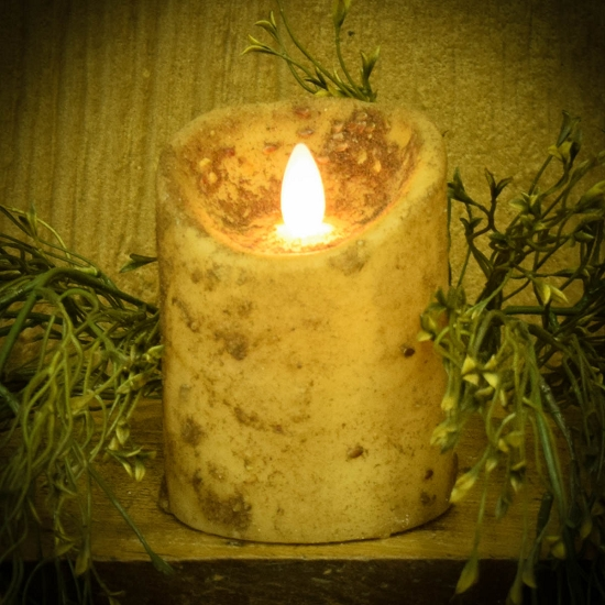 3×4 REAL LOOK FLAMELESS TIMER CANDLE-CREAM