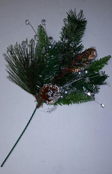 Silver Berry Frost Pine Spray 16