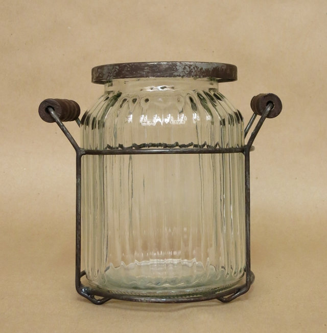 Ribbed Potpourri Jar