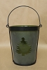 Frosted Tree Candle Jar - Green