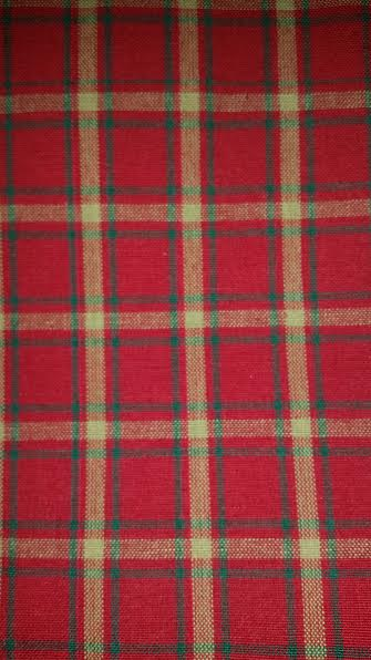 Kitchen Towel 20 x 28 Red with Green Plaid