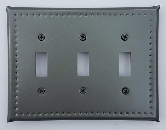 Tin Triple Switchplate Border Punch