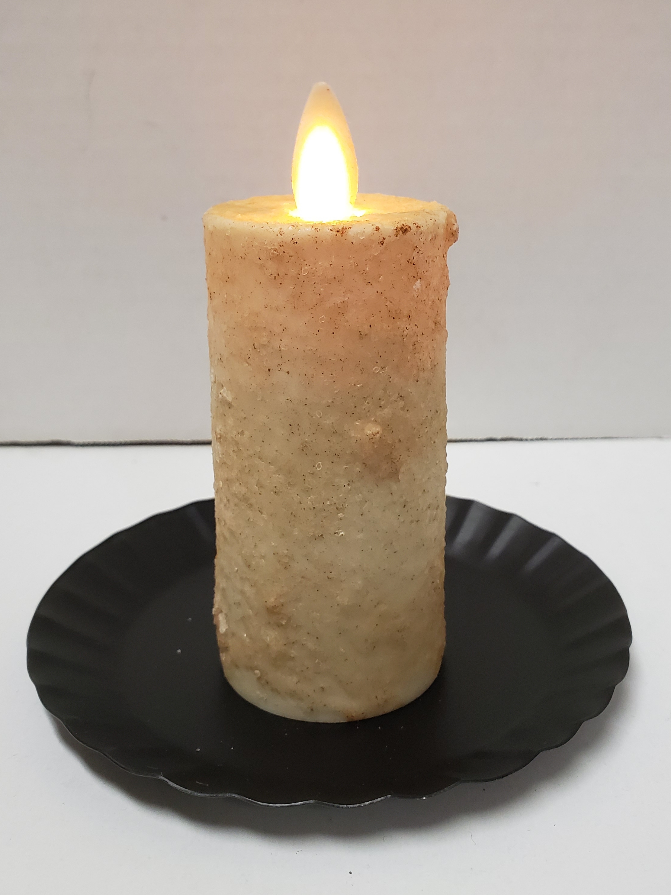 Realistic Moving Flame Votive Burnt Ivory