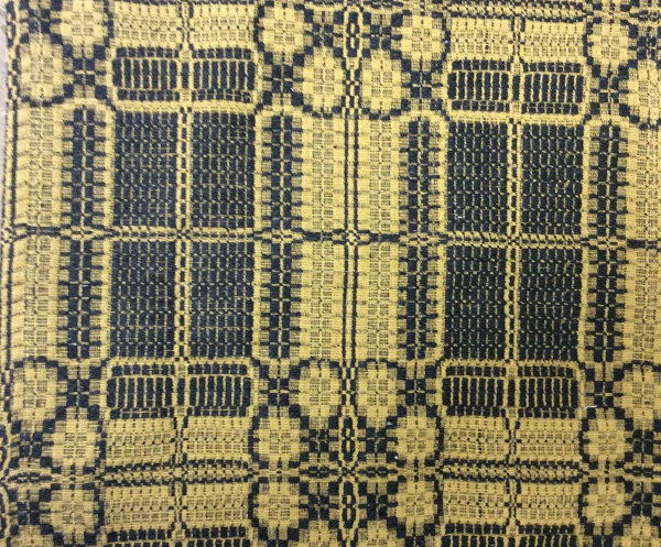 YORKTOWN WEAVE THROW BLACK/MUSTARD