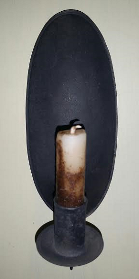 Oval Tin Sconce